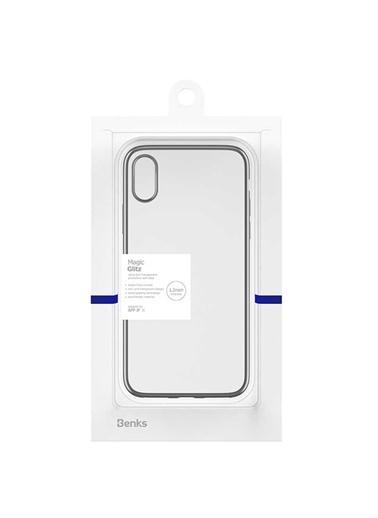 Benks Apple iPhone X Magic Glitz Ultra-Thin Transparent Protective Soft Case Siyah